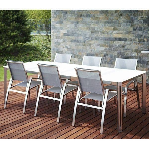 ARIA dining tables or coffee table, Ceramic version, by TODUS, great choice of dimensions, robust, clean lines: perfect for use on the terrace or in your living room