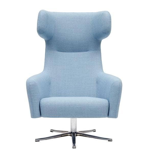 Den HAVANA lænestol, drejelige fødder, legendarisk og dynamisk komfort. En meget bred vifte af stoffer og farver. Af Softline.