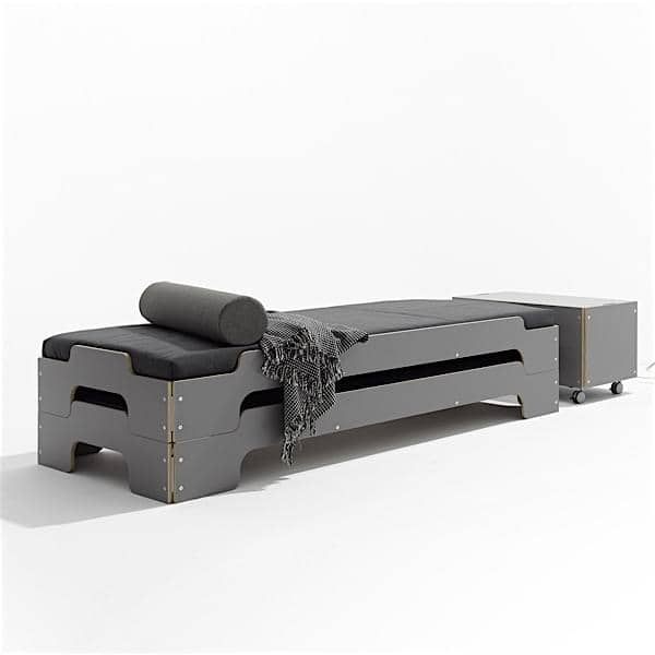 Stackable bed STACK by ROLF HEIDE since 1967, a timeless concept, extrem comfort and a pure and modern line.