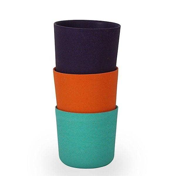 Biobu, ensemble de 4 gobelets à choisir parmi 3 coloris, fibre de bambou, design éco-responsable