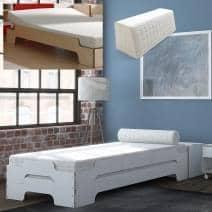 Accessories for müller beds: slatted frame, adjustable bed bases, mattresses, back cushion, bolster
