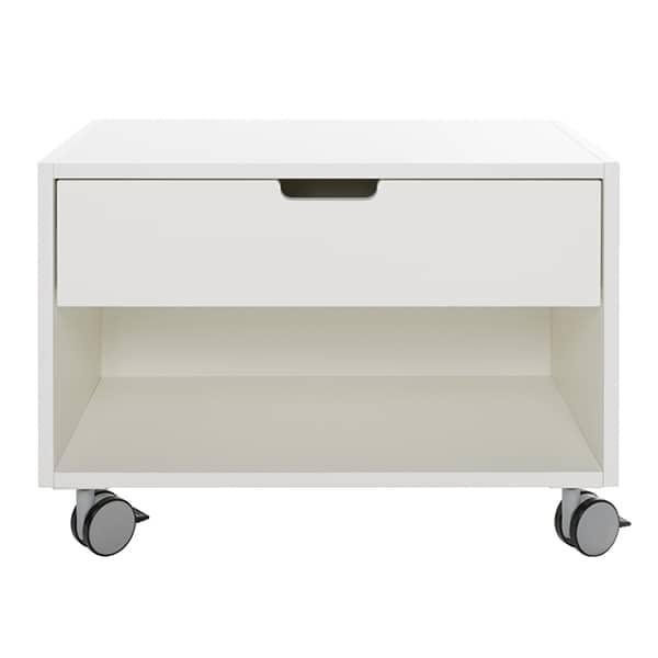 Table de chevet mobile, tiroir à fermeture silencieuse automatique