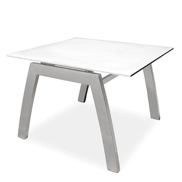 FRAMELESS Side table, ALCEDO, structure made in stainless steel, top plate in ceramic