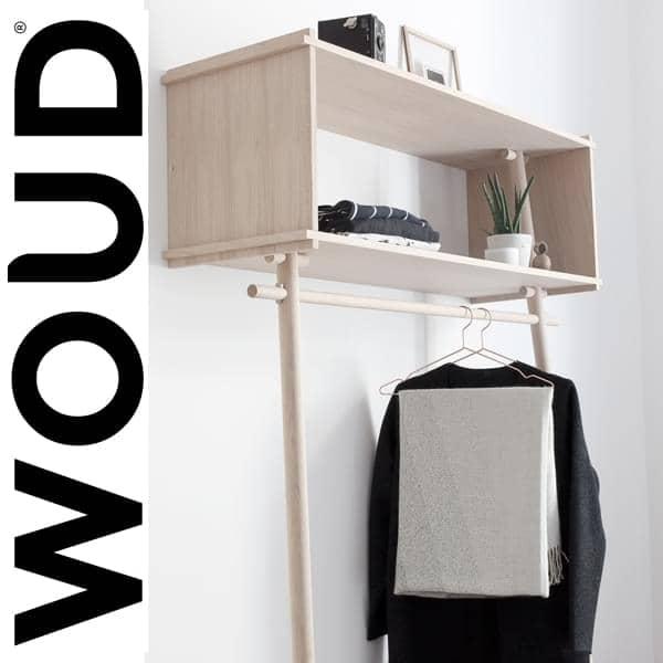 TÖJBOX, mere end en knagerække, et perfekt møbel, der overrasker. Design Eco, produceret by studiet MADE BY MICHAEL for WOUD