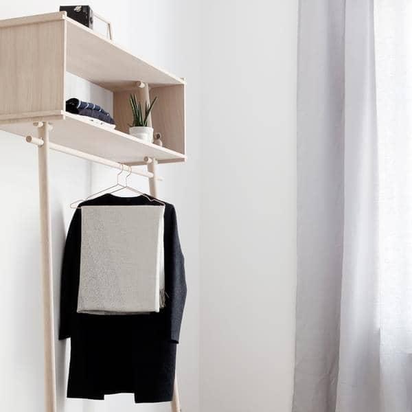 TÖJBOX, porte-manteau en bois, éco design