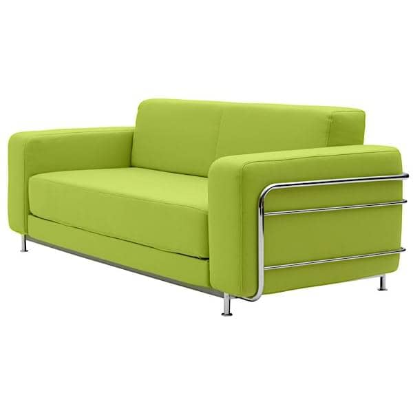 sofa convertible silver lit 2 places softline. Black Bedroom Furniture Sets. Home Design Ideas