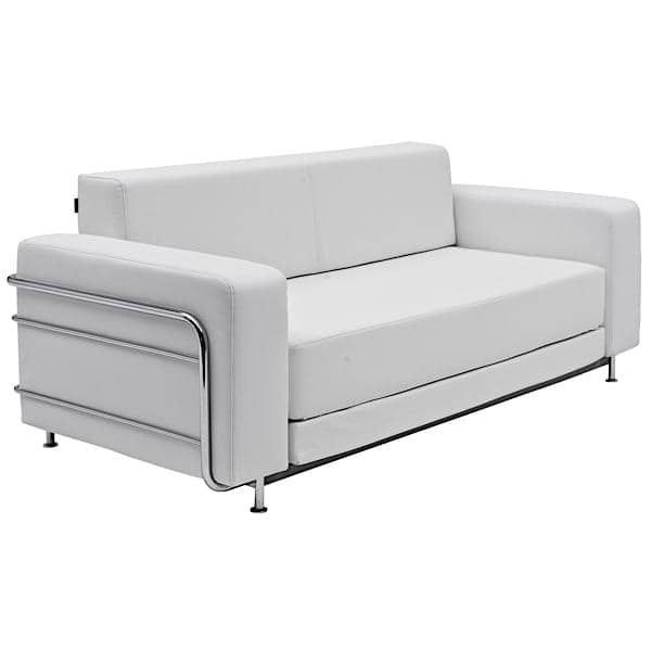 sofa convertible silver lit 2 places softline. Black Bedroom Furniture Sets. Home Design Ideas