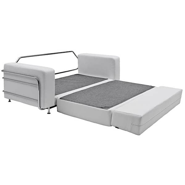 Silver A Convertible Sofa Bed For 2 Softline