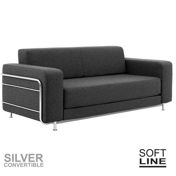 SILVER um sofá-cama para 2, projetado para pequenos espaços, confortável, intemporal, no verdadeiro estilo escandinavo, por Softline