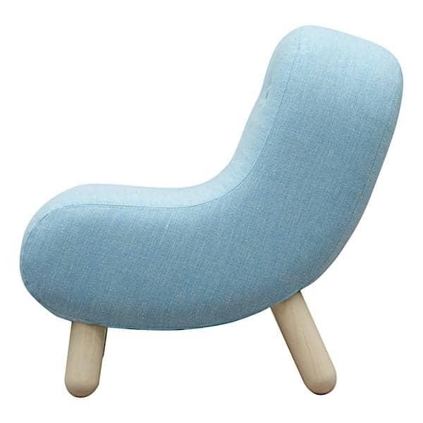 BOB, chaise multifonctions, tissus et bois de frêne