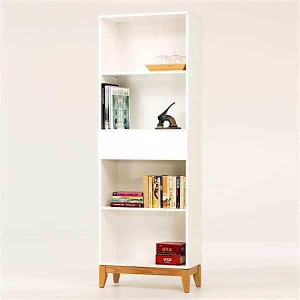 Librer a blanco leonard pfeifer - Biblioteca madera blanca ...