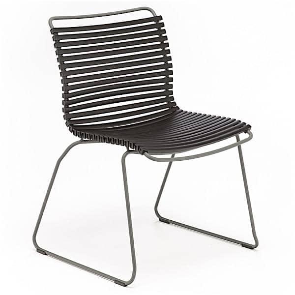 Spisning stol, CLICK SYSTEM, uden armlæn, harpiks og stål, udendørs, ved HOUE