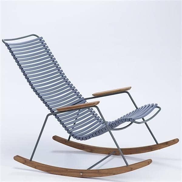 Cadeira de balanço, CLICK SYSTEM, resina e aço, ao ar livre, por HOUE