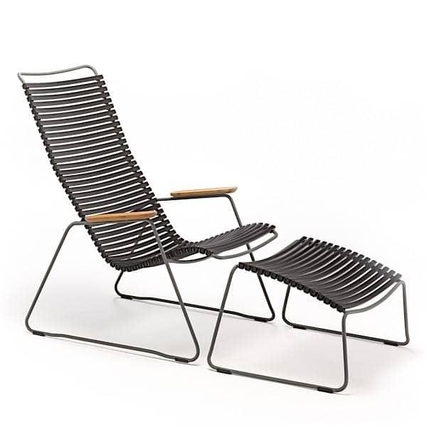 Sessel CLICK SYSTEM, Harz und Stahl, im Freien, von HOUE