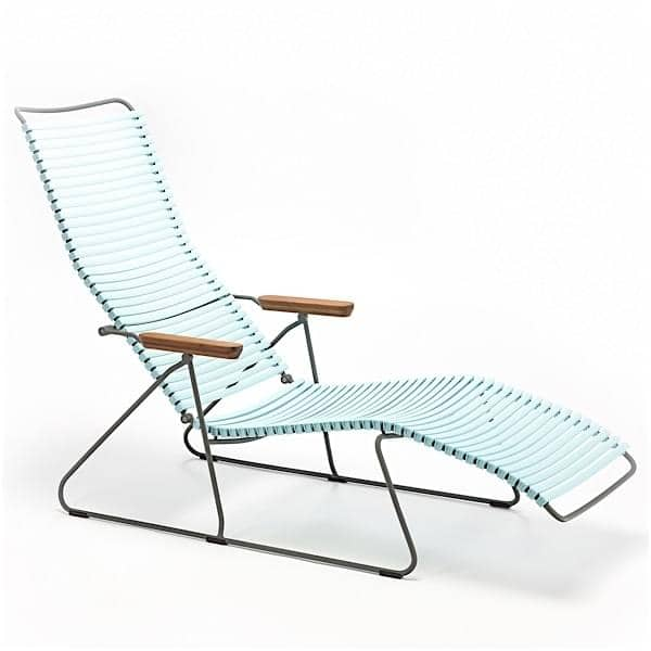 Bain de soleil lounge CLICK SYSTEM, résine et acier, outdoor