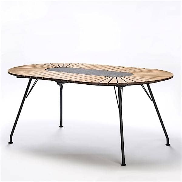 oval dining table eclipse bamboo houe. Black Bedroom Furniture Sets. Home Design Ideas
