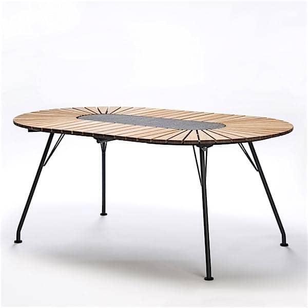 esstisch eclipse, bambus und granit, stahl, im freien, von houe, Esstisch ideennn