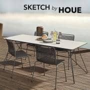 SKETCH 、ガーデンテーブル、竹およびエポキシ鋼