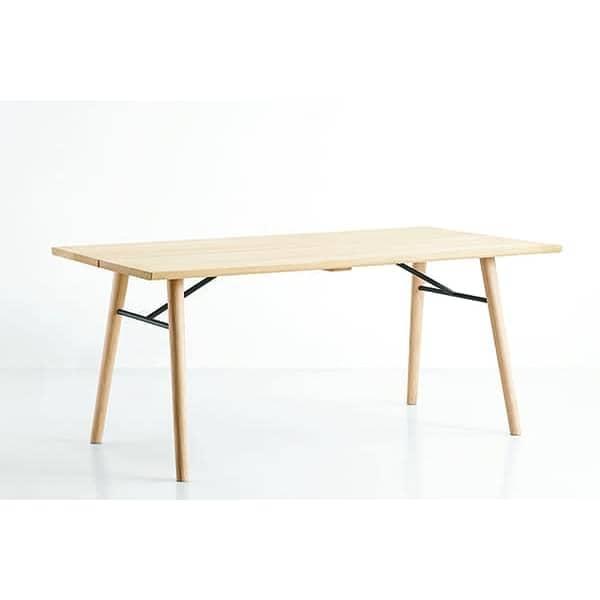 ALLEY, mesa de comedor en madera maciza, WOUD