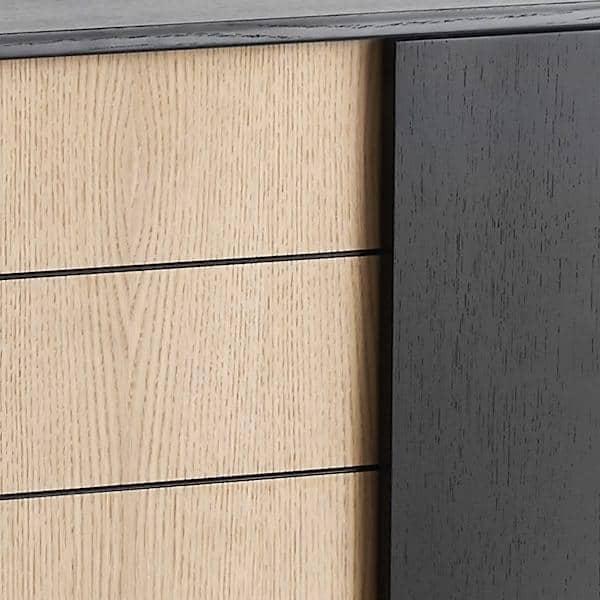 ... VIRKA Sideboard , Wood And Metal, Sliding Doors ...