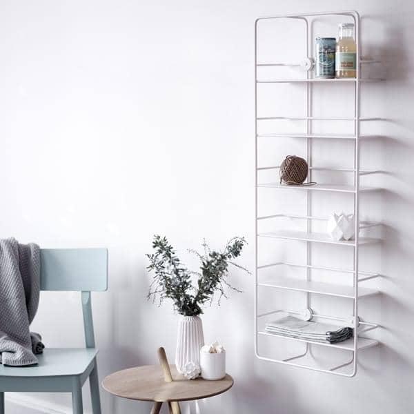 COUPE ράφια: μαύρο ή λευκό χάλυβα, για την κουζίνα, μπάνιο, υπνοδωμάτια, γραφείο. woud