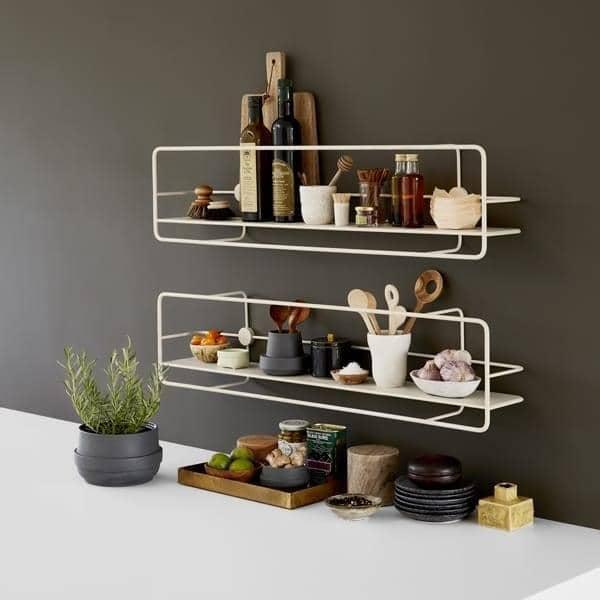 COUPE estantes de acero: negro o blanco, para la cocina, cuarto de baño,  dormitorios, oficinas. woud