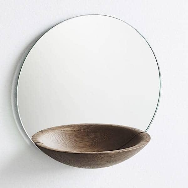 Espejos timewatch espejo de bolsillo woud espejo de bolsillo de gran tama o o320 mm roble - Espejos de bolsillo ...