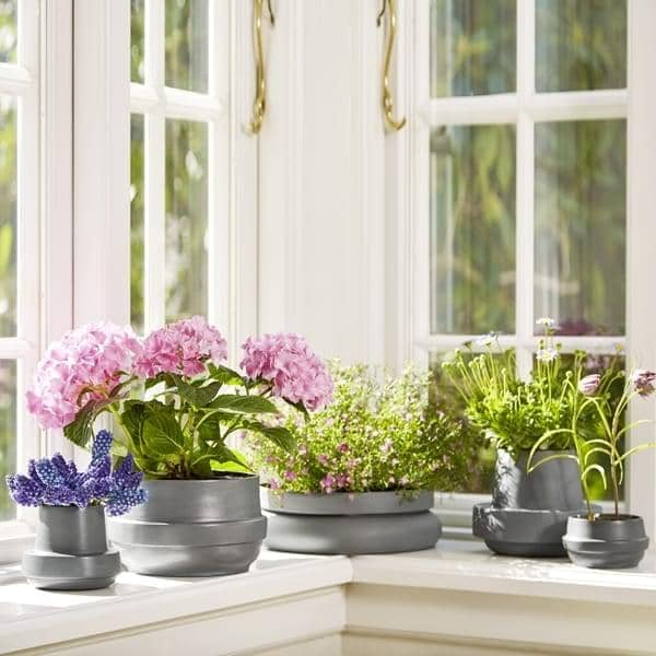 Flott Blomsterkrukker PIDESTALL og HINKEN, WOUD Blomsterpotter SV-25