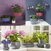 סירי פרחים PIDESTALL פלדה HINKEN ב קרמיקה, מודרני ומהנה. WOUD.