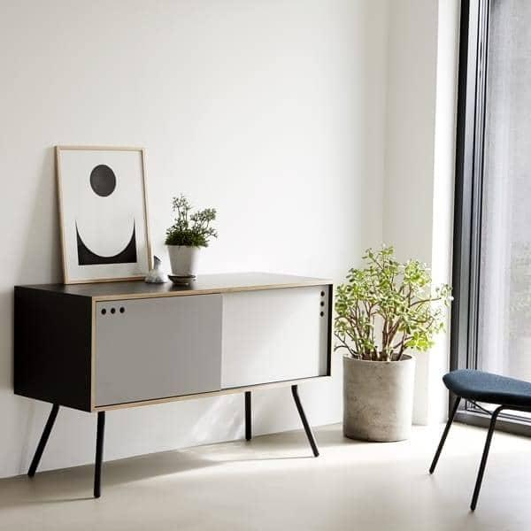 buffet geyma portes coulissantes woud. Black Bedroom Furniture Sets. Home Design Ideas