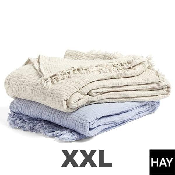 Le Plaid CRINKLE, 210 x 150 cm ou XXL 270 x 270 cm, en coton