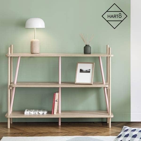 Regal, Bücherregal: SIMONE von HARTO - aus massiver Eiche und Eiche  Sperrholz