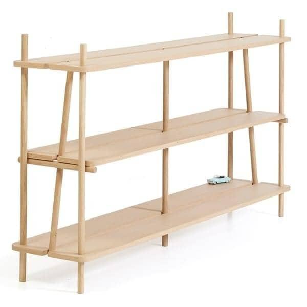 Estanter a librer a simone harto simone 120 cm 120 x 92 x 35 cm roble natural - Estanteria madera maciza ...