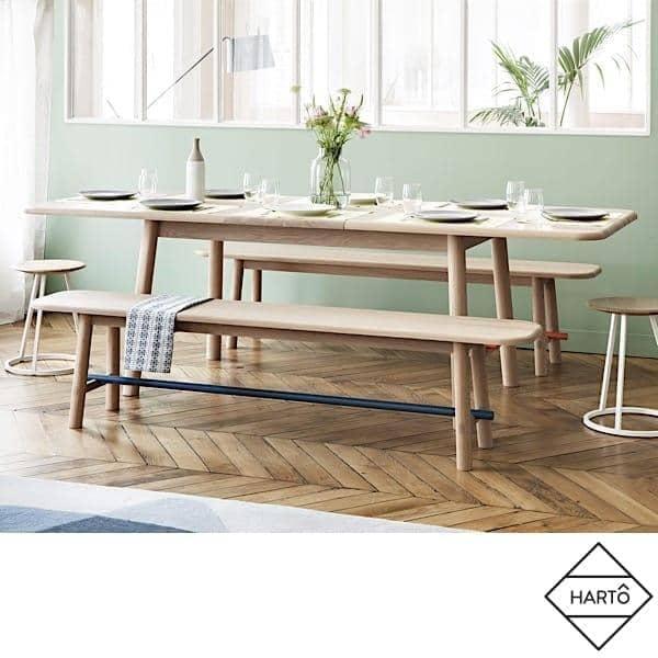 Utvidende bord Hélène av Hartô, 190 til 240 cm, solid eik