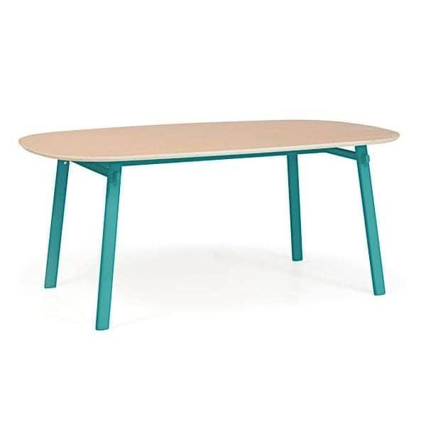 Céleste Tisch von Hartô, massive Eiche und Stahlkonstruktion