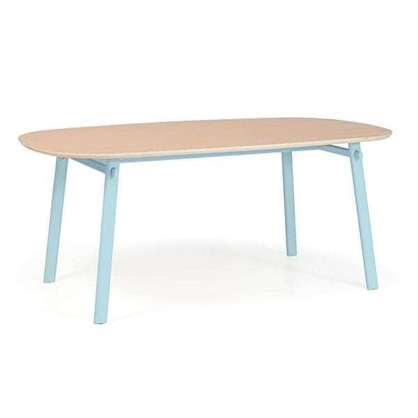 Table CÉLESTE par HARTÔ, chêne massif et structure d'acier