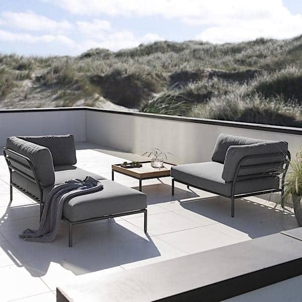 salon de jardin level composer de haute qualit canap pouf et table basse par houe