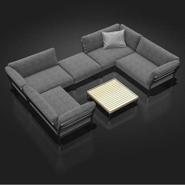 Gartenmöbel LEVEL zu komponieren, hohe Qualität, Sofa, Ottomane und Couchtisch