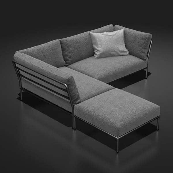 Mobili da giardino level da comporre houe - Pouf per divano ...