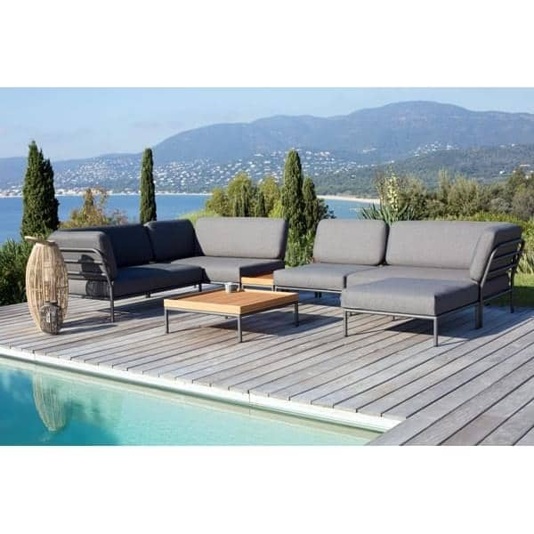 Mobiliário de jardim LEVEL para compor, alta qualidade, sofá, otomano e mesa de café