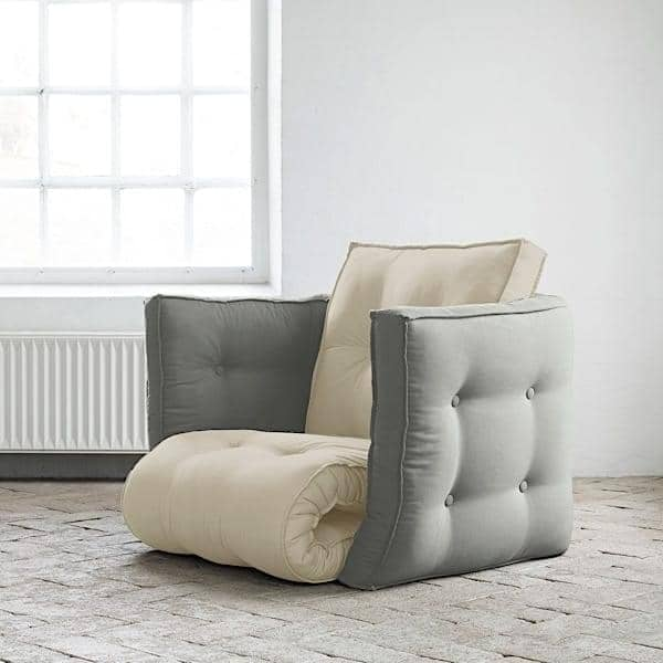 LOFTY, Fauteuil futon convertible en lit une ou deux place, pour adultes : doux, pratique, et confortable