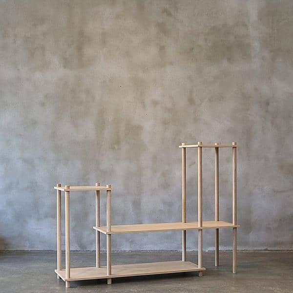 Etagère modulaire en bois ELEVATE, design et élégante. WOUD