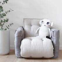 LITTLE LOFTY, sillón de futón convertible en una cama individual o para dos personas, versión para niños: suave, práctico y cómodo