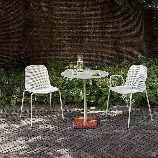 TERRAZZO : table carrée ou ronde, 3 hauteurs disponibles, de multiples finitions, par HAY