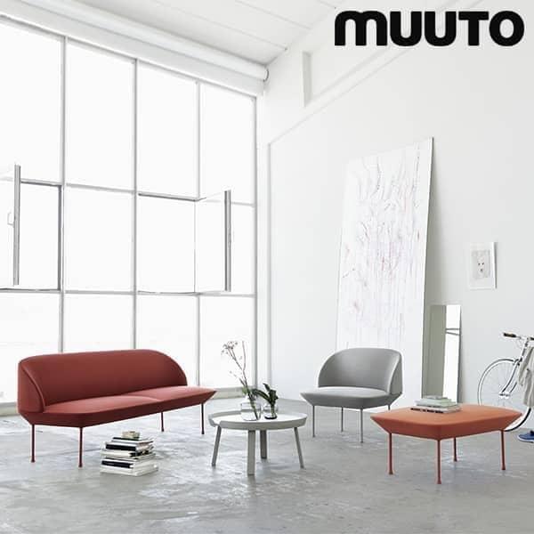OSLO 3-seter sofaen, en slank og stilig silhuett. MUUTO