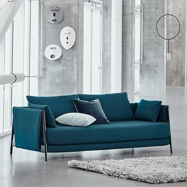 MADISON, um sofá conversível que convida você a relaxar.