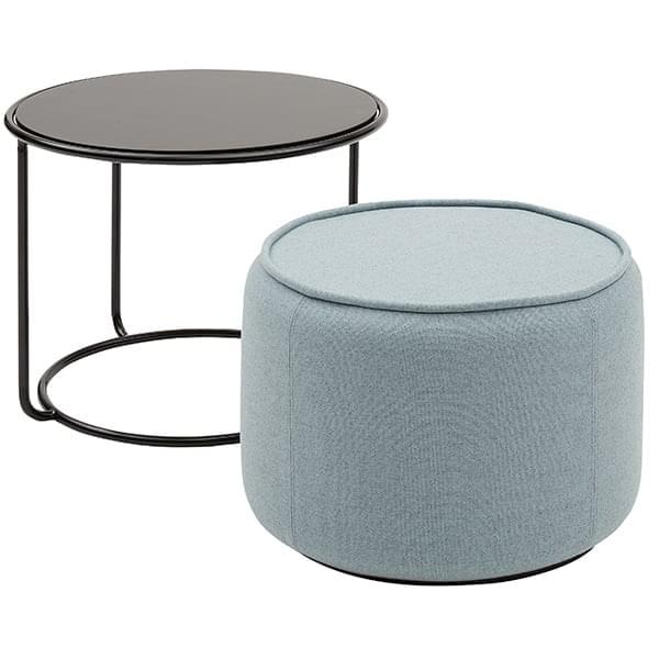 Pouf Con Tavolino.Tom Un Tavolino E Un Pouf Che Si Assemblano Per Formare Uno