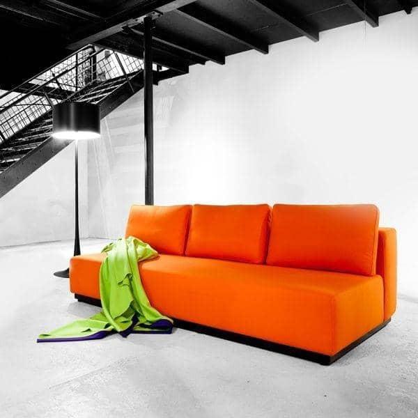 NEVADA, FELT stof: Cabriolet Sofa, 2 eller 3 sæt, Chaiselong og puf: smukke kombinationer - Deco og nordisk design, SOFTLINE