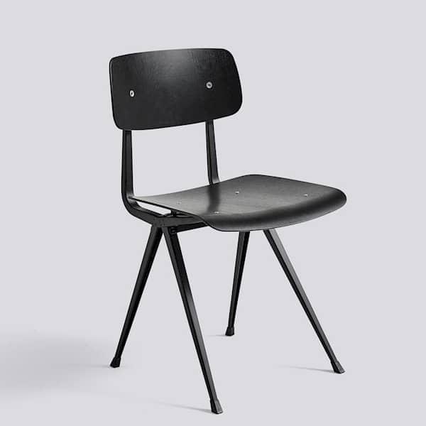 Formsperrholz RESULT geschnittenem Stuhl HAY Rücken aus Leder Der und Sitz Stoff optional von oder in StahlSitz aus hrdxQCtsBo
