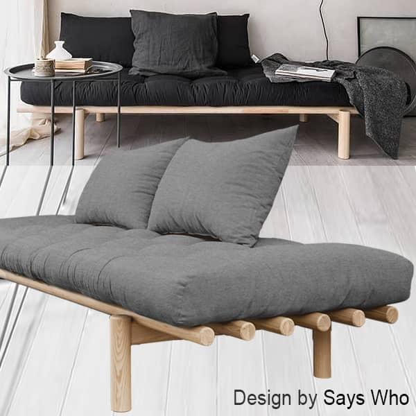 PACE: daybed og sjeselong som kan konverteres til ekstraseng - inkludert futon og to puter